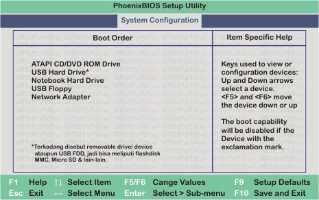 boot from cd rom or usb flashdisk
