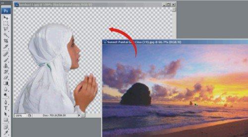 video tutorial cara merubah atau mengganti background dengan photoshop