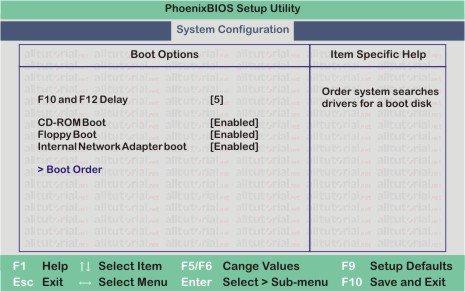 Setup biso for Compaq V3000