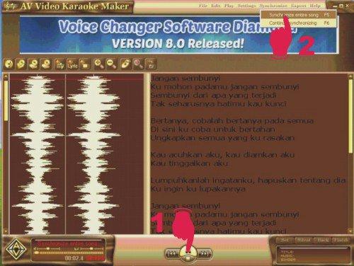 Cara memuat lirik lagu karaoke dalam video musik