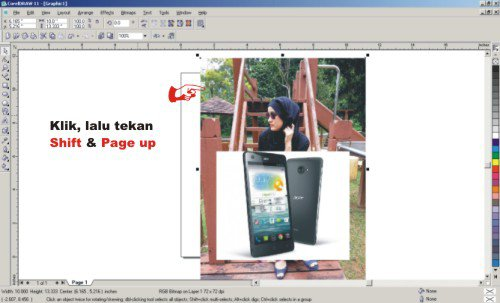 Tutorial Coreldraw - Cara Membuat Foto Wallpaper di Gambar HP