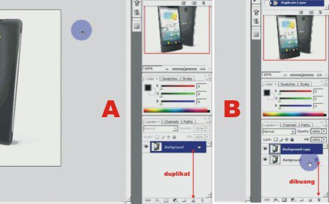 Tutorial Photoshop - Cara Membuat Foto Wallpaper di Gambar Handphone