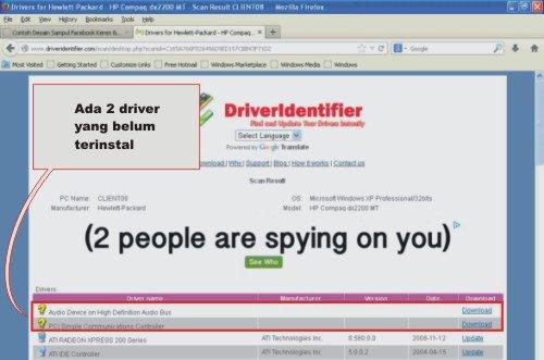 cara deteksi driver 1