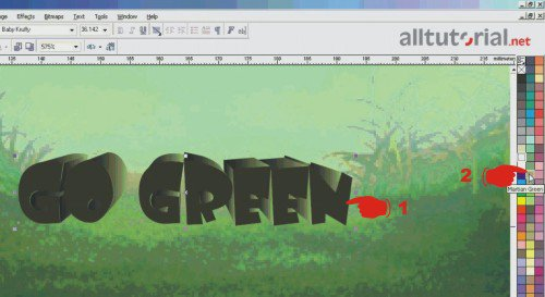 Tutorial coreldraw - cara membuat tulisan atau teks 3D