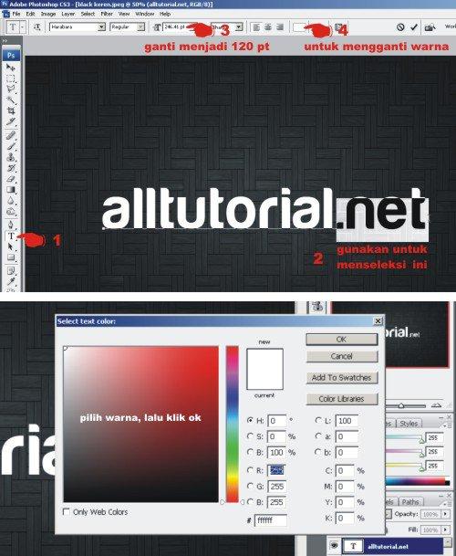 Cara Membuat Efek Teks Timbul dengan Photoshop