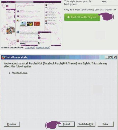 Cara Merubah Tampilan Facebook (Tema Facebook) Keren