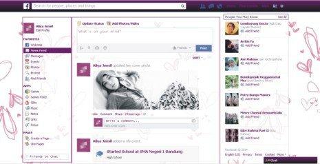 Cara merubah tampilan facebook keren