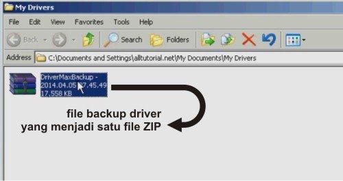 File backup driver dengan drivermax