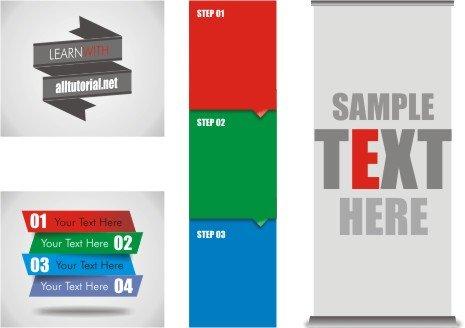 Contoh contoh desain web banner statis yang dibut dengan corel draw