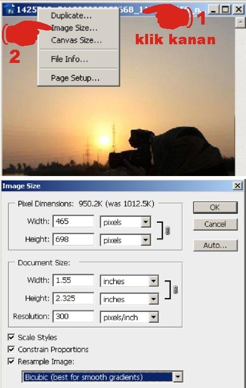 Mengatur ulang ukuran gambar secara proporsional