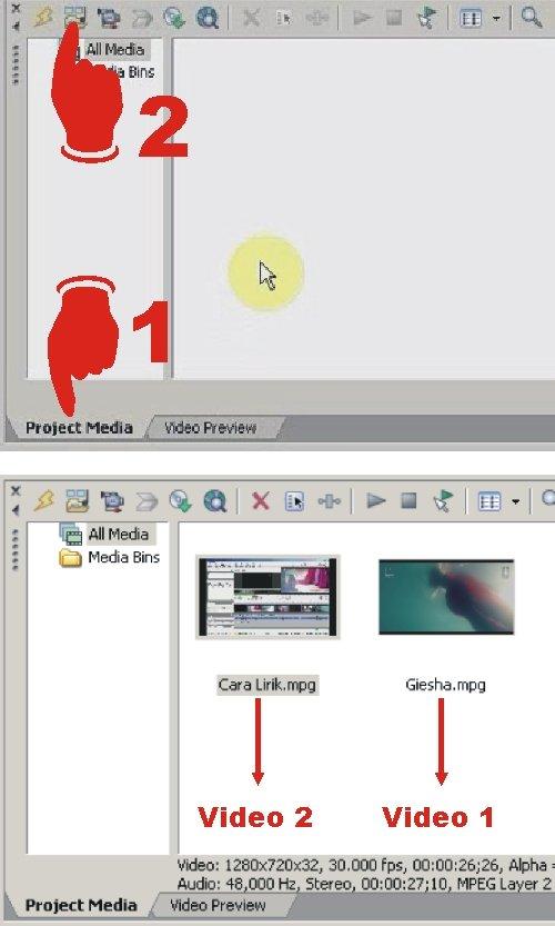 Bagaimana cara menyisipkan video di dalam video lainnya