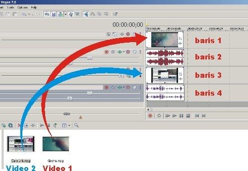 Cara menambahkan video ke dalam video dengan sony vegas