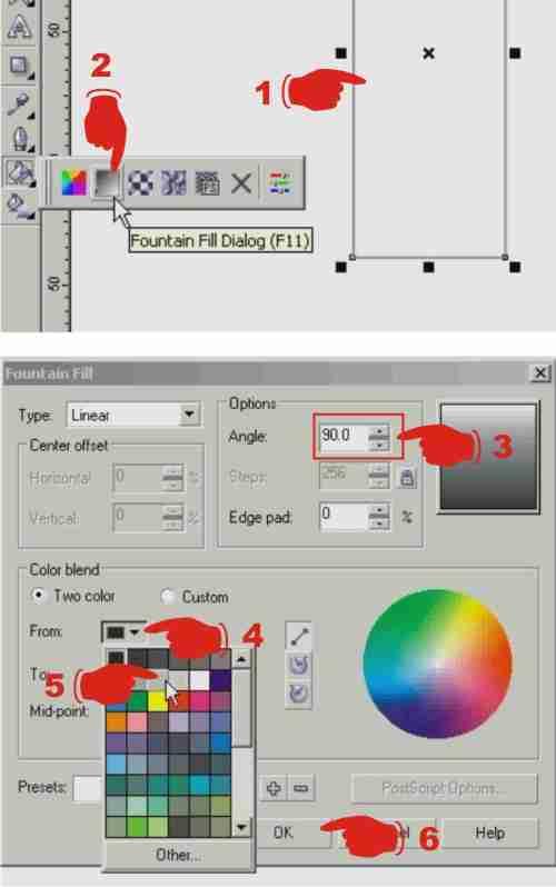 proses pembuatan X banner menggunakan corel draw