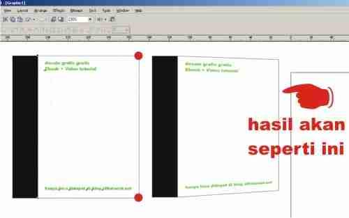 mengatur prespectif cover ebook
