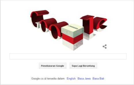 Event Pilpres 2014, Google Merah Putih