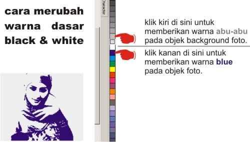 Merubah warna dasar hitam putih ke warna sesuai keinginan