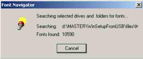 Install font di windows XP