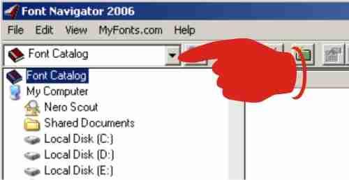 Install font dengan Bitstream Font Navigator