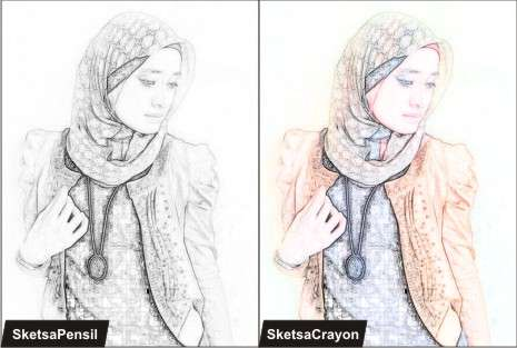 Cara membuat efek sketsa dengan Photoshop CS3