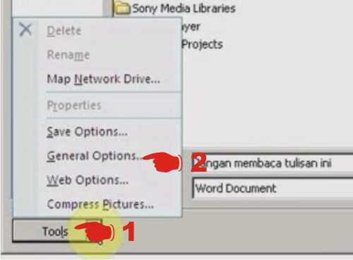 Memberi password pada dokumen ms word 2007, 2010