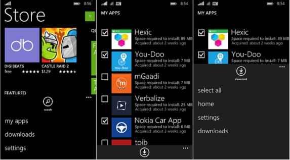 Cara memasang lagi atau reinstall aplikasi pada windows phone