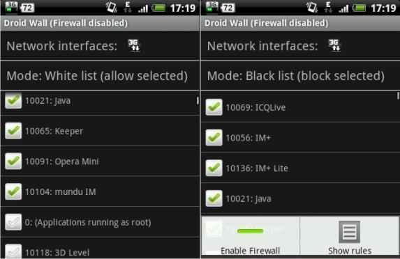 Batasi akses internet smartphone Android dengan Firewall