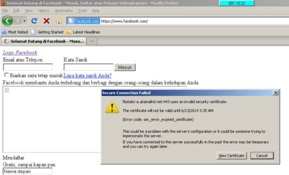 Cara atasi There is a problem with this website's security certificate