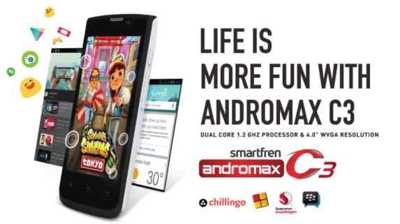 Review, Harga & Spesifikasi Smartphone Smartfren Andromax C3