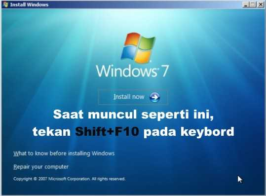 Langkah pertama cara mengatasi windows cannot be installed to this disk