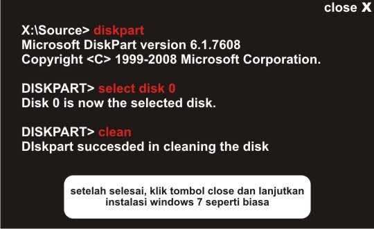 Langkah kedua cara mengatasi windows cannot be installed to this disk