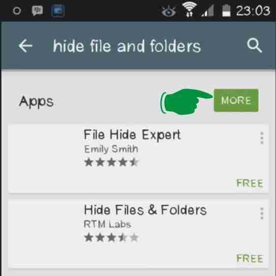 Langkah pertama Cara Menyembunyikan file di Android
