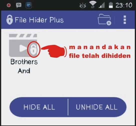 Langkah keenam Cara Menyembunyikan file di Android