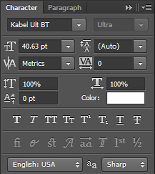 karakter 3 Cara Membuat Tipografi Quotes dengan Photoshop