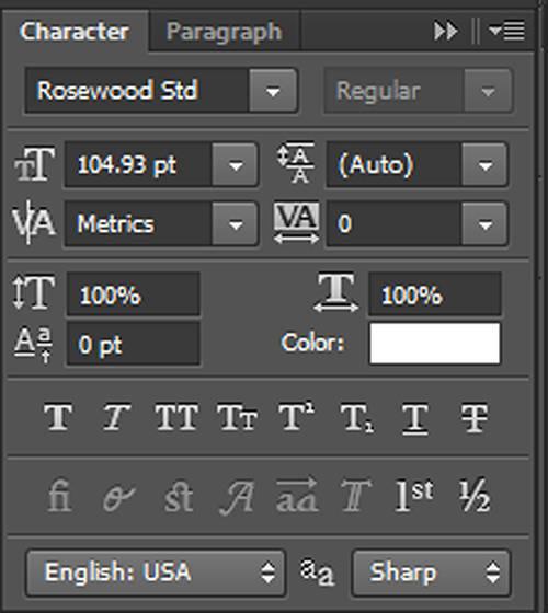 karakter 5 Cara Membuat Tipografi Quotes dengan Photoshop