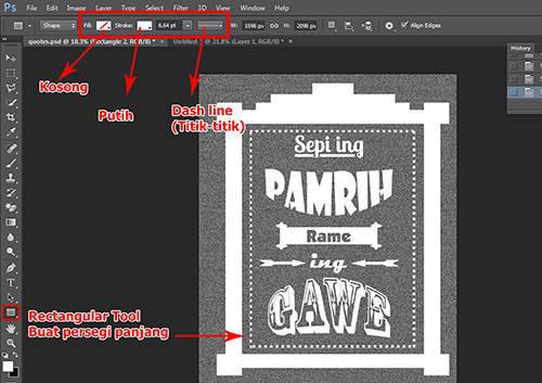 langkah ke delapan belas Cara Membuat Tipografi Quotes dengan Photoshop