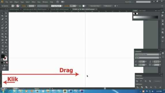 Langkah pertama Cara membuat desain stempel dengan Adobe Illustrator