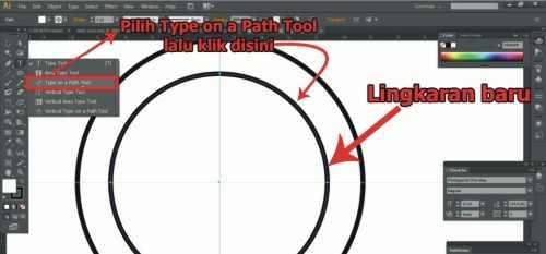 Langkah kesepuluh Cara membuat desain stempel dengan Adobe Illustrator