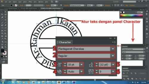 Langkah kesebelas Cara membuat desain stempel dengan Adobe Illustrator