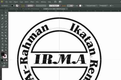 Langkah keduabelas Cara membuat desain stempel dengan Adobe Illustrator