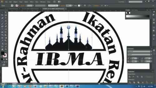 Langkah ketiga belas Cara membuat desain stempel dengan Adobe Illustrator