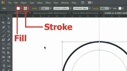 Langkah keempat Cara membuat desain stempel dengan Adobe Illustrator