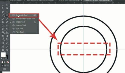 Langkah ketujuh Cara membuat desain stempel dengan Adobe Illustrator