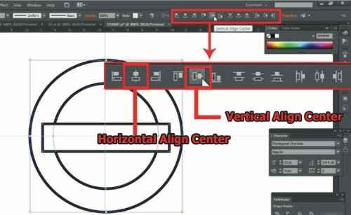 Langkah kedelapan Cara membuat desain stempel dengan Adobe Illustrator
