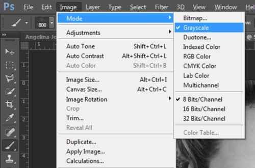 Langkah pertama Cara membuat efek Tipografi pada wajah dengan Adobe Photoshop