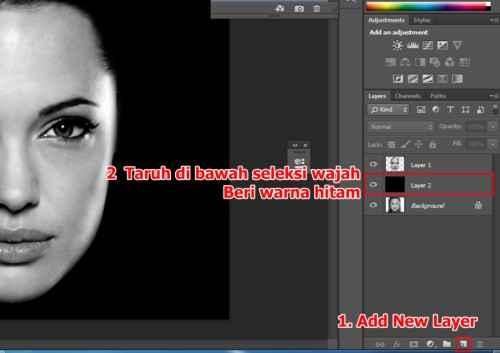 Langkah ketiga Cara membuat efek Tipografi pada wajah dengan Adobe Photoshop