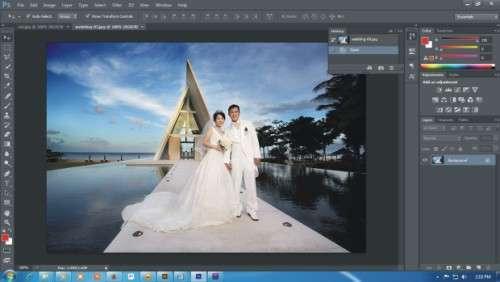 membuat efek vintage pada foto di Photoshop