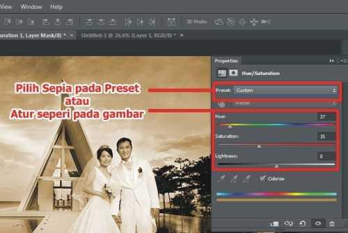 Cara membuat efek vintage pada foto di Photoshop