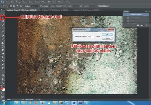 Langkah keempat membuat efek vintage pada foto di Photoshop
