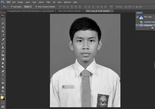 Langkah pertama Cara edit foto hitam putih menjadi warna di Photoshop