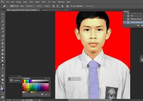 Langkah kedua belas Cara edit foto hitam putih menjadi warna di Photoshop